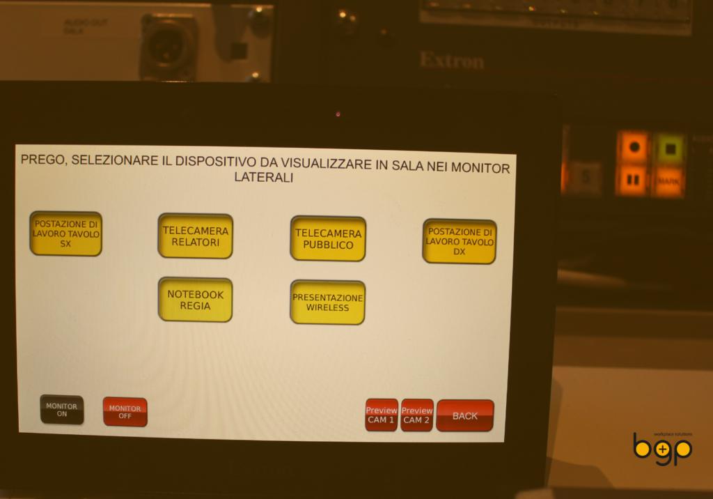 Controller Extron Personalizzato per il Museo delle Civiltà